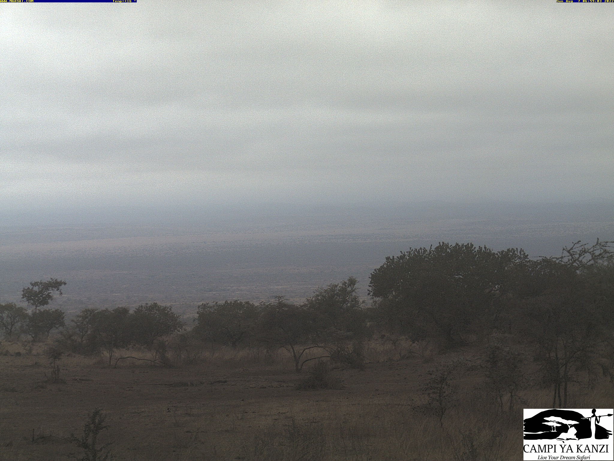 Kanzi Camp Webcam in den Chyulu Hills