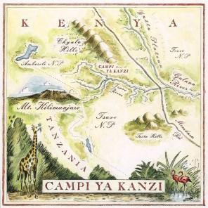 Campi ya Kanzi Map